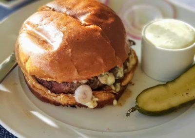 Angus Blue Mushroom Burger